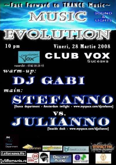 28 martie - Music Evolution